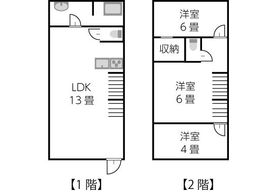 建坪11坪〜13坪の間取り例01