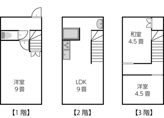 建坪10坪以下の間取り例01