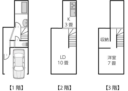 建坪10坪以下の間取り例02