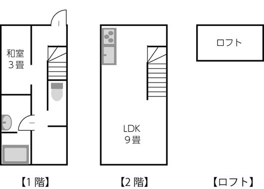 建坪10坪以下の間取り例03