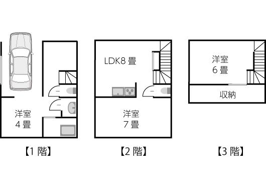 建坪11坪〜13坪の間取り例02