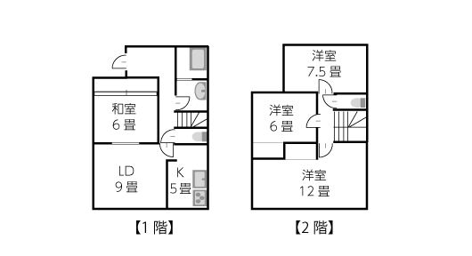 建坪19坪2階建ての家