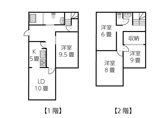 建坪23坪2階建ての家