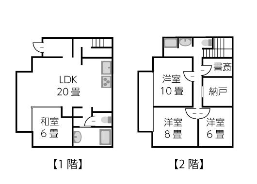 建坪25坪2階建ての家