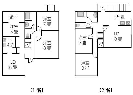 建坪26坪2階建て完全分離型2世帯住宅
