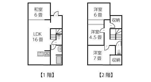 建坪16坪2階建ての家