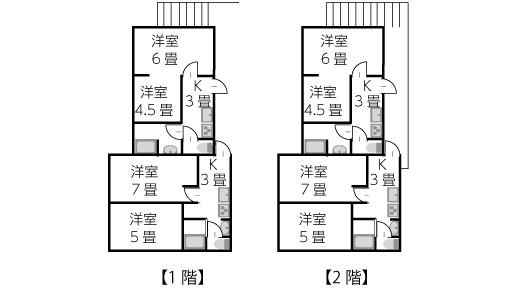 建坪24坪2階建て賃貸併用住宅
