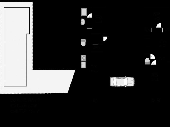 敷地面積98平米、建築面積49平米の間取りプラン例