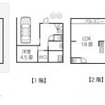 敷地面積71平米(約21.5坪)〜80平米(約24.2坪)の注文住宅間取りプラン例